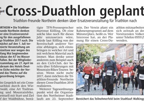 Cross-Duathlon geplant